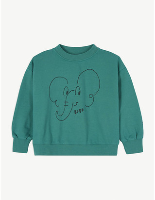 Bobo Choses Elephant print cotton sweatshirt 4-11 years