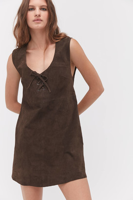 Urban Outfitters Asti Faux Suede Mini Dress