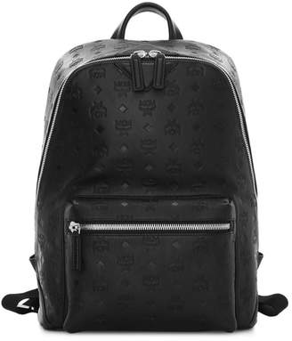 MCM Medium Neo Duke Monogrammed Leather Backpack