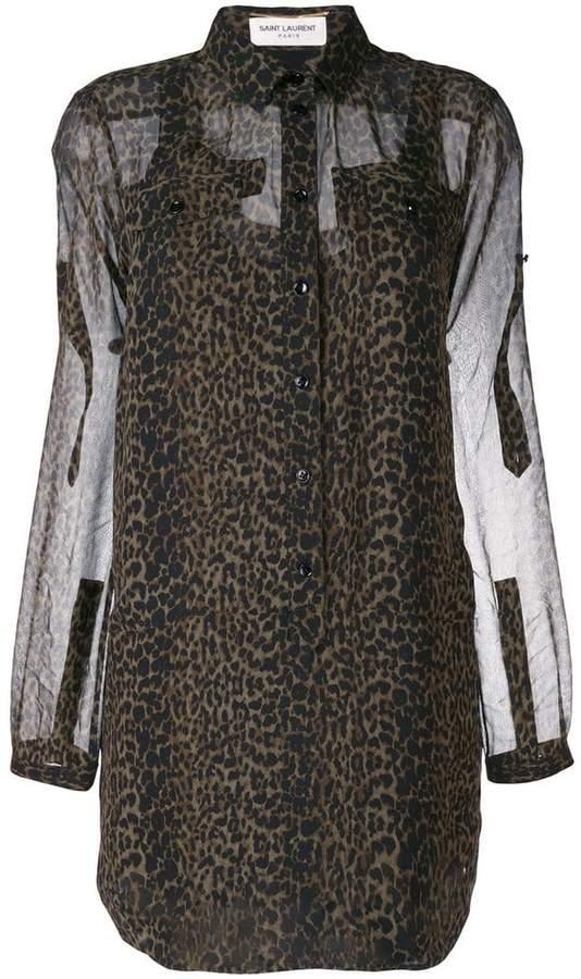 8bcc4dcbbde7 Leopard Print Sheer Blouse - ShopStyle UK