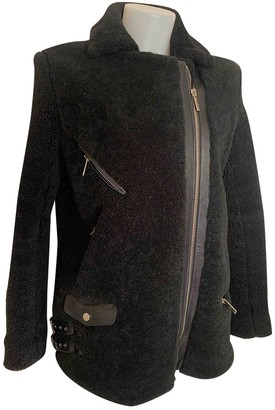 Nour Hammour \N Black Shearling Coat for Women