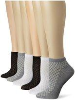 Jones New York Women's Six-Pack Waffle Low-Cut Socks