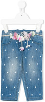 Lapin House - polka dots jeans - kids - Cotton - 12 mth