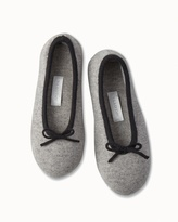 Soma Intimates Drawcord Cashmere Slippers Heather Grey/Black