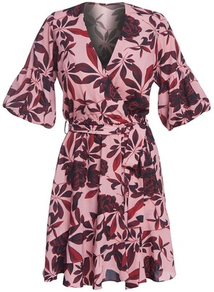 Cliché Reborn Desert Rose Summer Wrap Dress With Frill Detail