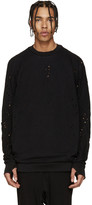 11 By Boris Bidjan Saberi Black Blocked Eyelet Sweatshirt