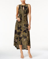 Bar III Printed High-Low Maxi Dress, Only at Macy's