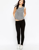 Genetic Los Angeles Delphine Ankle Zip Skinny Jeans In Black