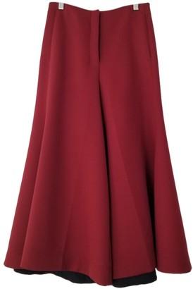 Celine Burgundy Wool Trousers