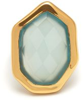 Lola Rose Lyra large stone ring aqua chalcedony