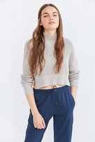 Silence & Noise Silence + Noise Cropped Mock-Neck Sweater