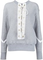 Sacai lace-up sweatshirt
