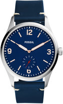Fossil Men's Vintage 54 Blue Leather Strap Watch 42mm FS5246