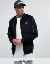 Ellesse Velour Bomber Jacket With Small Logo