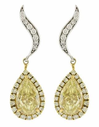 Marissa Diamonds Yellow and White Diamond Mix Shape Earrings