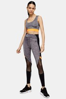 Topshop Grey Colour Block Sports Leggings