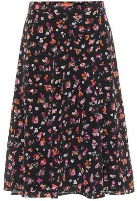 Altuzarra Ruri floral silk midi skirt