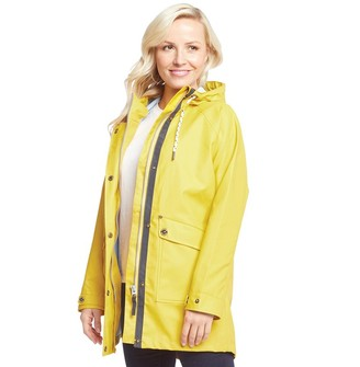 Trespass Womens Shoreline Waterproof Hooded Paddington Jacket Yellow