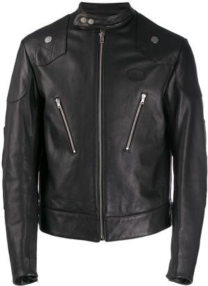 Zilver Organic Leather Racing Jacket