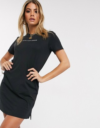 Calvin Klein Jeans institutional logo t shirt dress in black