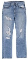 Brock Collection High-Rise Distressed Jeans
