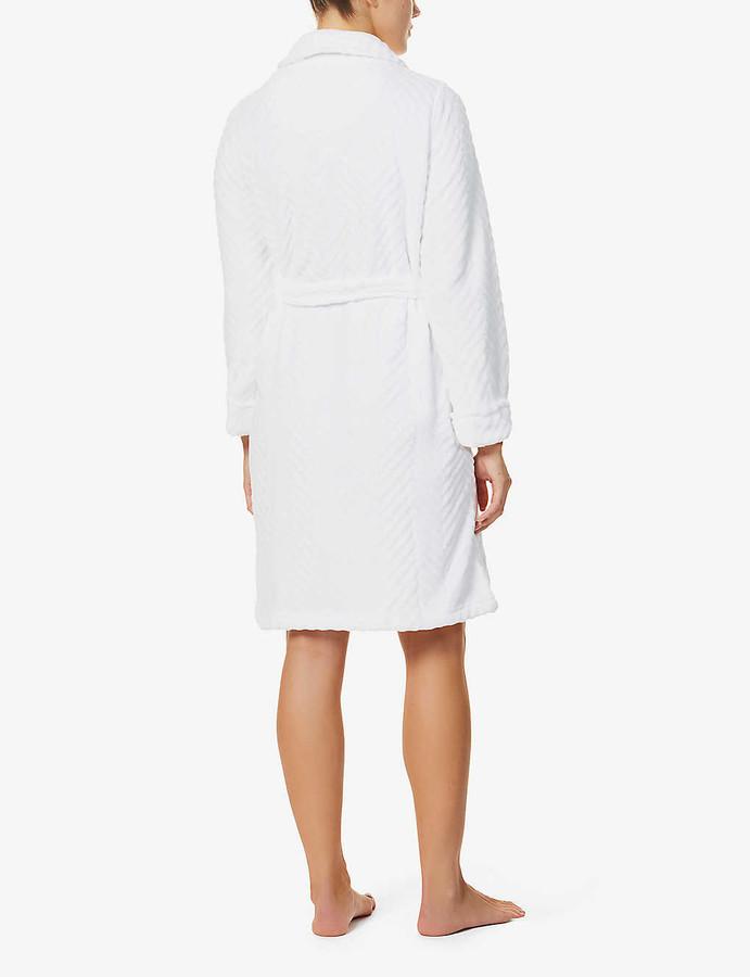 Thumbnail for your product : Lauren Ralph Lauren Chevron fleece robe