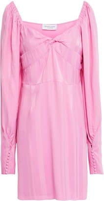 Hofmann Copenhagen Alisa Twisted Satin-jacquard Mini Dress