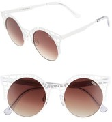 Quay Women's Fleur 49Mm Round Sunglasses - Gold/ Green