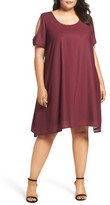 Sejour Plus Size Women's Cold Shoulder Swing Dress