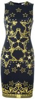 Versace star print fitted dress