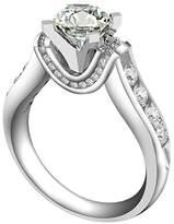 Epinki Women Rings, 925 Sterling Ring Proposal Ring 4-Prong Set Cubic Zirconia Size 6