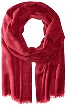 Michael Stars Women's Rock Solid Scarf with Raw Edge