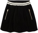 Sonia Rykiel Enfant Velour Skirt (Toddler/Kid) - Black-2T
