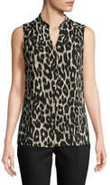 Calvin Klein Animal-Print Sleeveless Top