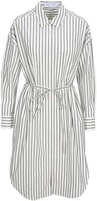 Proenza Schouler White Label Striped Tied Belt Shirtdress