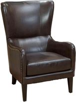 SkyBlue Reception Furniture Salerno Brown Leather Armchair