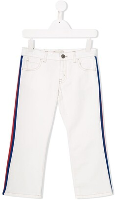 Gucci Kids Side Panelled Jeans