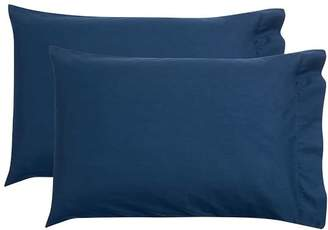 Pottery Barn Teen Essential Pillowcases, Standard, Set of 2, Navy (insignia)