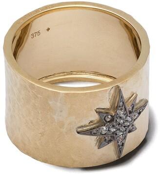 Feidt Paris 9kt yellow gold Constellation Etoile sapphire ring
