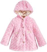 London Fog Hooded Reversible Faux-Fur Jacket, Toddler Girls