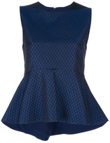 Space sleeveless pleated top
