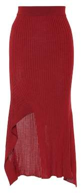 Stella McCartney Ribbed wool and silk skirt