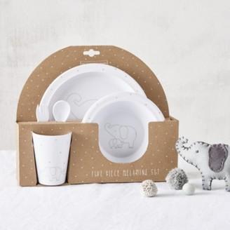 The White Company Kimbo 5 Piece Dining Set, White Grey, One Size