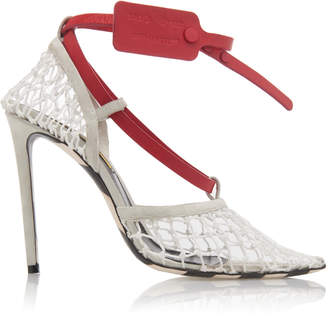 Off-White Zip Tie D'Orsay Knit Pump Size: 36