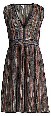 M Missoni Women's Sleeveless Lurex Fit-&-Flare Dress