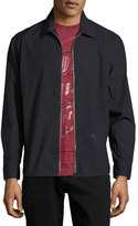 Diesel S-Nigel Zip-Front Shirt Jacket, Black
