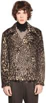 Etro Double Breasted Faux Leopard Fur Jacket
