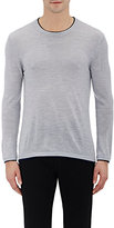Barneys New York MEN'S CREWNECK SWEATER-GREY SIZE XL