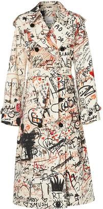 Burberry Graffiti Print Trench Coat