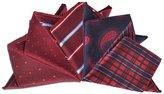 TopTie Mixed Pattern Pocket Squares Fashion Wedding Handkerchiefs, 5 Pcs
